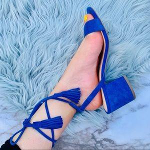 Nordstrom BP Lace Up Block Heel Sandal